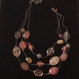 Vintage NY Statement Necklace Pinks & Golds.